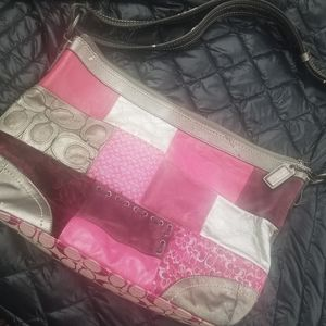 Multi-colored authentic Coach bag